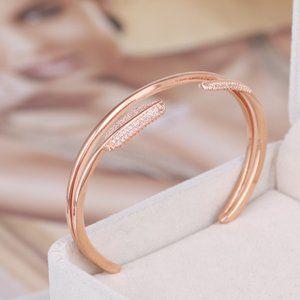 Henri Bendel Zircon Double Opening Bracelet